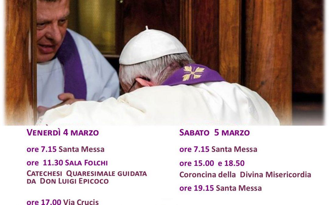 Venerdì 04 Marzo – Catechesi a San Giovanni